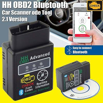 Elm327 Bluetooth Obd2 OBDII Car Auto Diagnostic Scanner for iPhone Android 2018