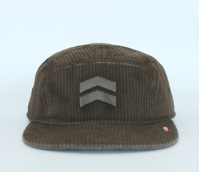 New Vintage Auth Men s A. Kurtz AK Military Visor Trucker Hat Chevron Cap  Brown 2ac0b826593d