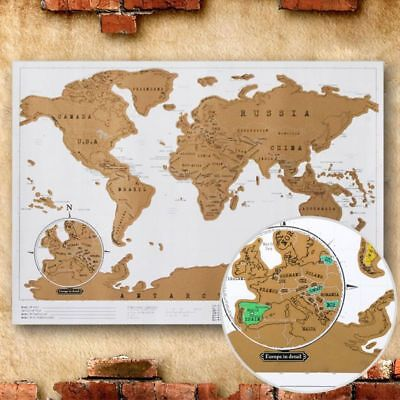 DELUXE TRAVEL EDITION Scratch Off World Map Poster Personalized ...