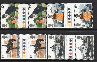 GB 1979 Police traffic light gutter pairs MNH Unfolded stamps. Free postage!!