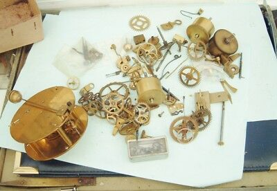 Clock makers french clock movement parts wheels gears & other parts  repair