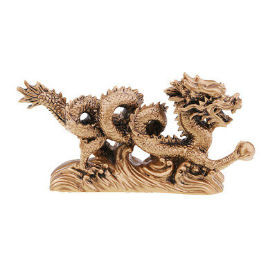 1 Piece Chinese Old Copper Copper Dragon Antique Wealthy Statue Collectible