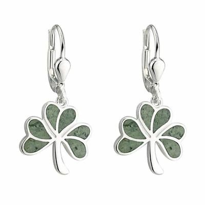 Marble Shamrock Drop Earrings
