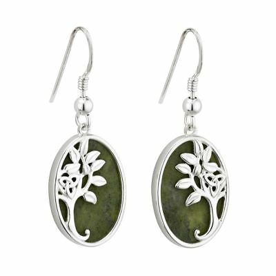 Marble Tree Of Life Drop Earrings
