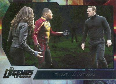 DC Legends Of Tomorrow Foil Base Card #34 Three Times the Trouble