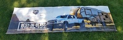 "2018 Dodge Ram truck Dealership Vinyl Banner 35 3/4""  X 117 1/2"""