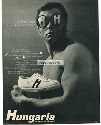 1968 Hungaria Sneakers Shoes French Vtg. Print Ad