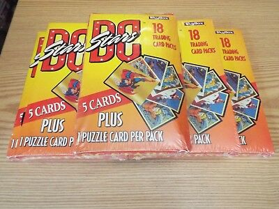 Dc Stars Trading Cards Lot Of 5 Sealed Boxes Of 18 Packs Each By Skybox