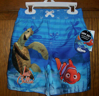 e227038ff8 Nemo 2T Disney Swim Bathing Suit Trunks Shorts UPF 50+ Toddler Boys NWT Blue