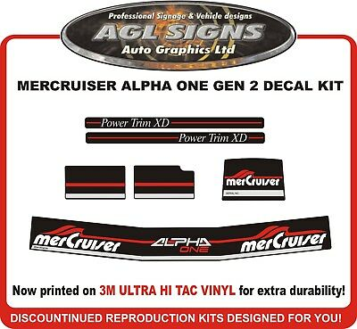 Mercruiser ALPHA ONE GEN 2  Outdrive Decal Kit  Reproductions mercury
