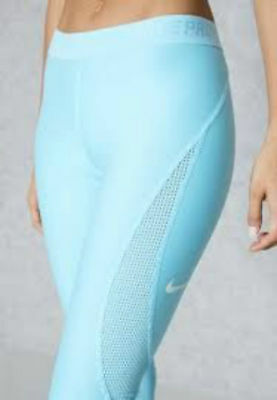 new product 4515d 9c818 Nike XS PRO HYPERCOOL Women s Training Capris NEW  140 831978 447 Chlorine  Blue