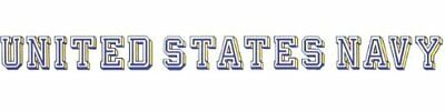 """United States Navy Window Strip Decal Sticker made in USA Official 18"""" X 1.75"""""""