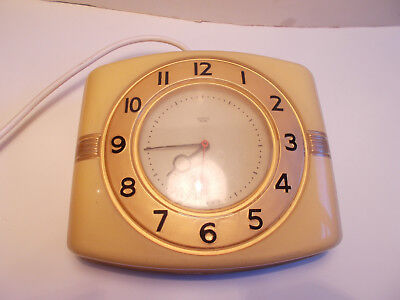 Smiths Sectric Art Deco Bakelite Wall Clock Working