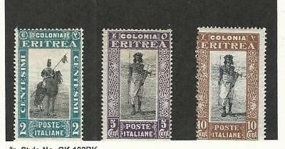 Eritrea (Italy), Postage Stamp, #119-121 Mint LH, 1930 Horse