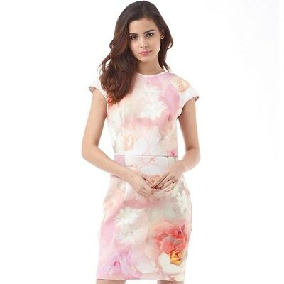 21cd000ca836b Ted Baker London Quaro Rose on Canvas Floral Dress Size 10 US Size 4 Ted  Baker
