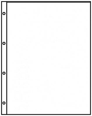Lindner 8811 Pocket pages A4 crystal clear with 1 pocket (220 x 300 mm) - pack o
