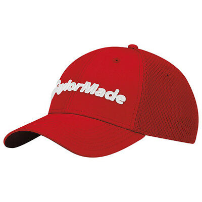 Taylormade Golf Performance Cage Fitted Hat Mesh Cap Size: S/M Red New!! 19044
