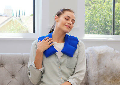 Microwaveable or Freezer Heating Wrap for Neck - My Heating Pad (Blue)