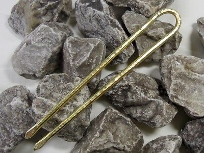 Haarforke / Haargabel,(mini Klein) Stab Messing, Brass Haarnadel, Hairpin Neu!!!