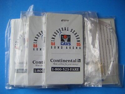 1994-95 Continental Airlines Cleveland Cavs Basketball Luggage Tags Lot (4) New