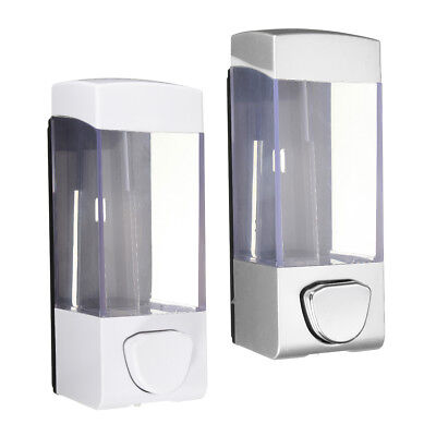 2 Set Pump Soap Dispenser Bathroom Wall Mounted Foam Shampoo Liquid Lotion 350ml