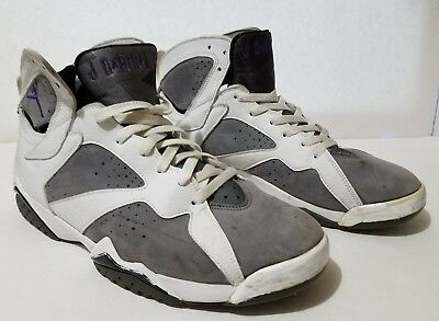 20f3421b319 NIKE AIR JORDAN Vii 7 Retro Flint Grey Purple 304775-151 Size 12 ...