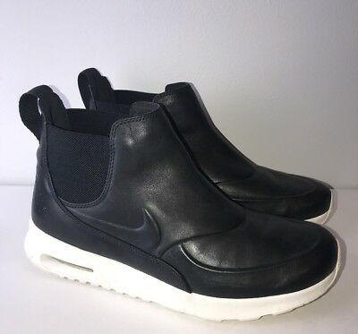 buy popular 928a5 3ba36 Nike Air Max Thea Mid- Black Sail White 859550 001 Leather Boots Size 9