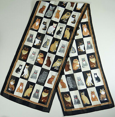 Cat Scarf Breeds Long Rectangle Siamese Tabby Persian Calico Tiger Striped 58x13