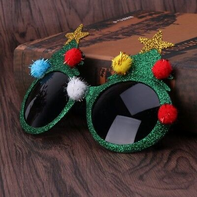 New Glitter Christmas Tree Sunglasses Ugly Sweater Party Glasses Xmas Holiday