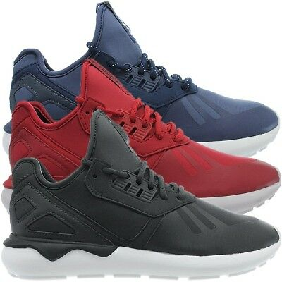 Adidas Tubular Runner men s mid-cut sneakers blue red gray casual shoes NEW e03c49ace8e