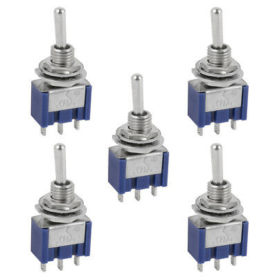 5pcs AC 125V 6A 250V 3A SPDT 3 Pin ON/OFF/ON 3 Position Mini Toggle Switch TE460