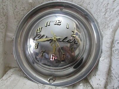 Wall Clock Made From Vintage Chrysler Hubcap Signed by Maker