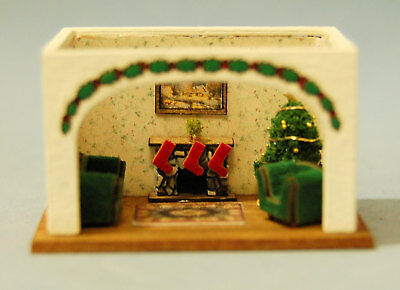 1/144th Scale Christmas room box kit designed by sdk miniatures LLC