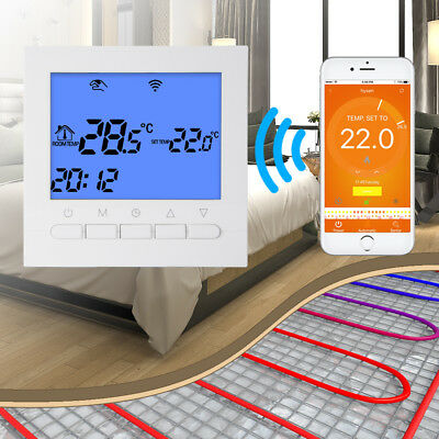 WIFI LCD Thermostat Smart App Control Pre-Set Heating System Temperature BI811