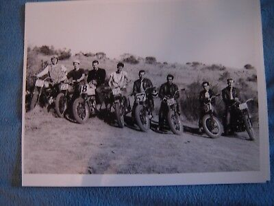 "14"" X 11"" Black & White Photo of the Richmond Ramblers Motorcycle Club"