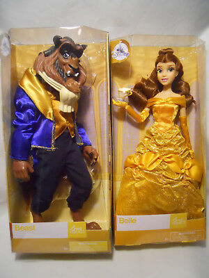 Disney Store Beauty and the Beast Classic Princess Belle & Beast Doll Set