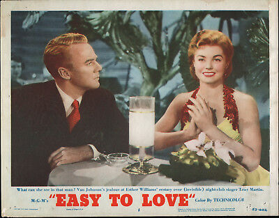 EASY TO LOVE original 1953 lobby card movie poster ESTHER WILLIAMS/VAN JOHNSON