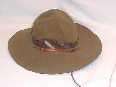 VINTAGE BOY SCOUTS OF AMERICA OFFICIAL SCOUT MASTER HAT size 6-7/8