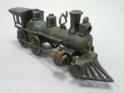 Antique Cast Iron Harris Toy Co Floor Train Steam Engine Early 1900s Vintage