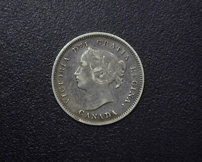Canada 1899 Silver 5 Cents  Choice Extremely Fine