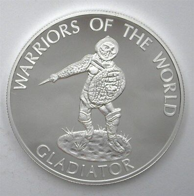 Congo Dem. Rep. 2010 10F Warriors Of The World - Gladiator - Near Perfect Proof