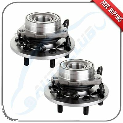 Pair Of 2 Front Wheel Hub Bearing Assembly W/ABS For Cadillac Chevrolet GMC 4WD