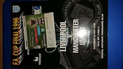 Liverpool v Manchester United 1996 FA Cup Final Programme & Ticket