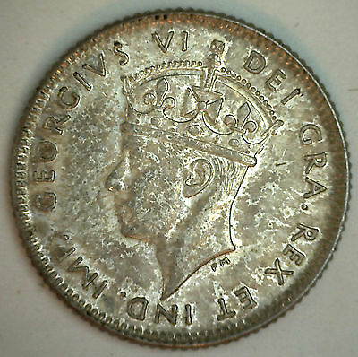 1947 C Newfoundland SILVER 10 Cents KM# 20a Ten Cent Coin AU Almost Uncirculated