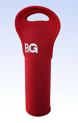 PAG Neoprene Wine/Water One Bottle Tote Carry Travel Bag - RED