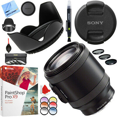 Sony Alpha E-mount Power Zoom 18-200mm F3.5-6.3 OSS with  67mm Filter Sets Kit