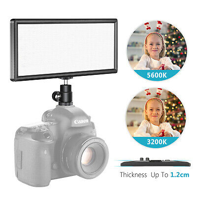 Neewer Super Fino Bi-Color Regulable Luz de Video LED con Pantalla LCD