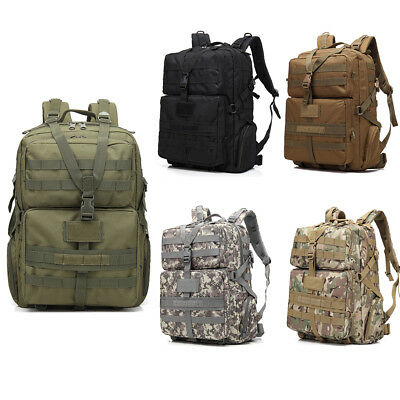 9b4e57f039ad 45L Daypack Military Tactical Rucksack Waterproof Molle Backpack Outdoor  Camping