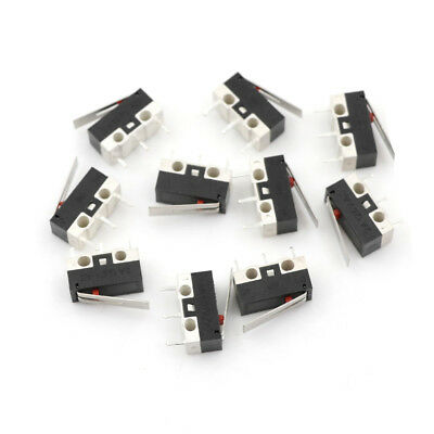 10Pcs 1NO 1NC SPDT Momentary Long Hinge Lever Micro Switches AC 125V 1A JR