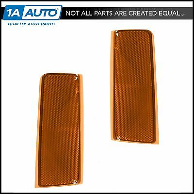 Side Marker Corner Reflector Left & Right Pair for Chevy GMC Pickup Truck & SUV